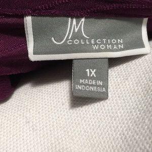 JM Collection Tops - Women's JM Collection Purple Sequin Top